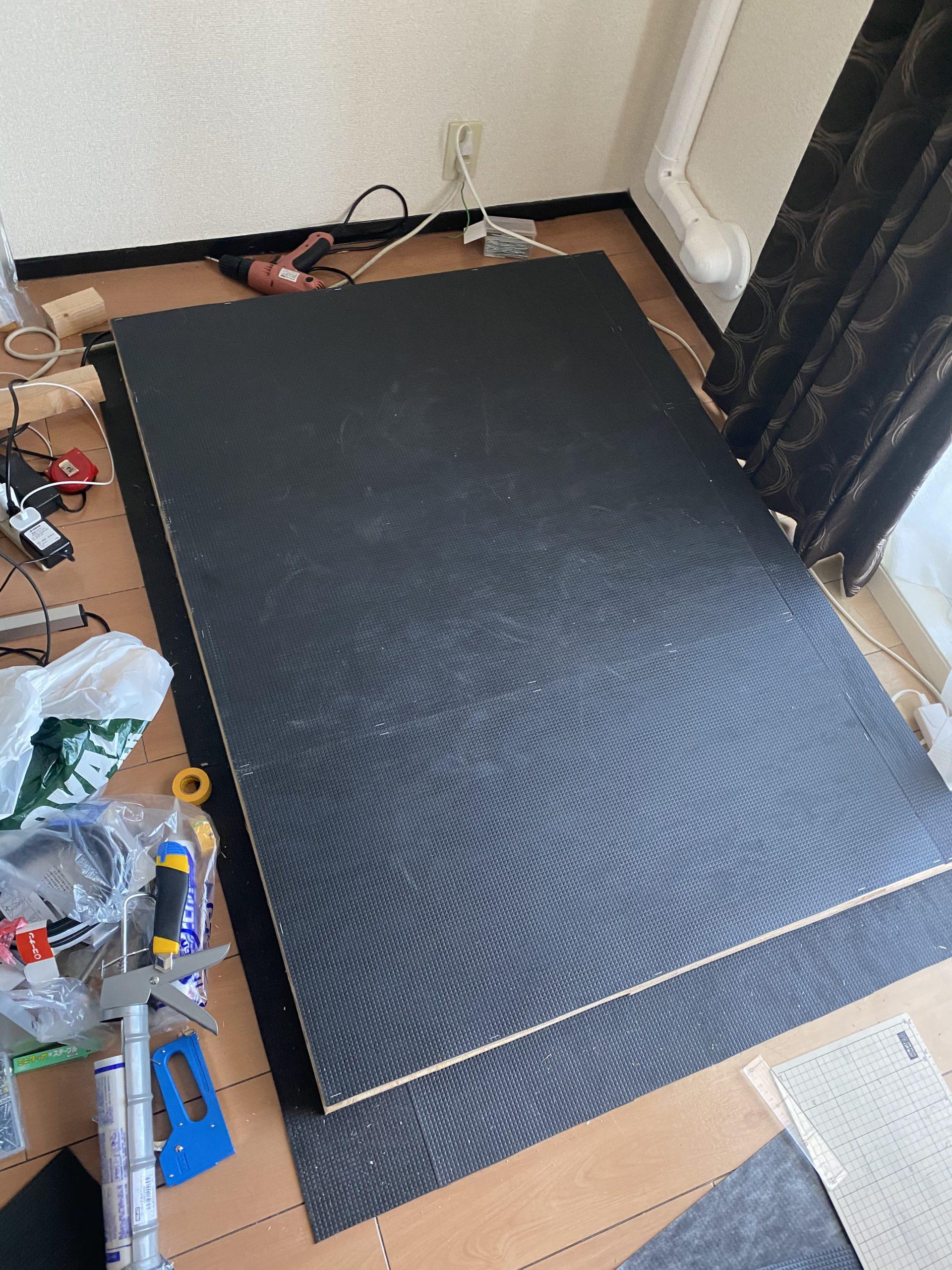 【DIYで防音室自作!】床制作編。レコーディング用、練習用のボーカルブースを自作!賃貸マンションに録音環境を!